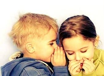 kids whispering- posts going viral
