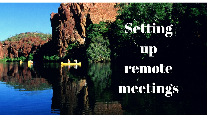 setting up a remote meeting