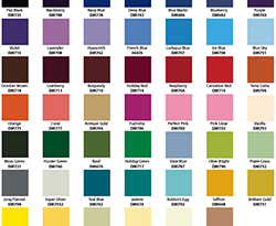 Colour Chart for presentation design