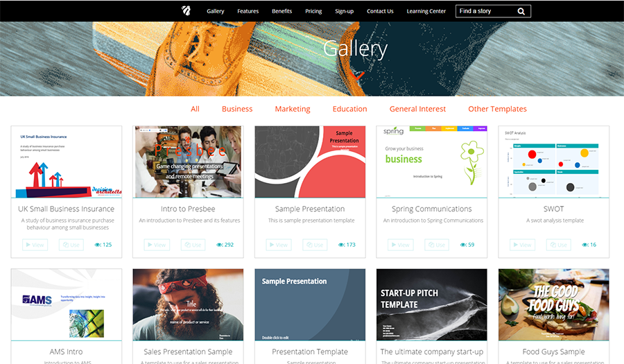 Presbee Online Presentation Gallery
