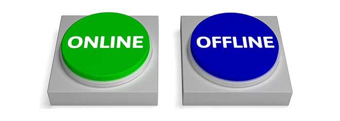 Online Presentation vs offline