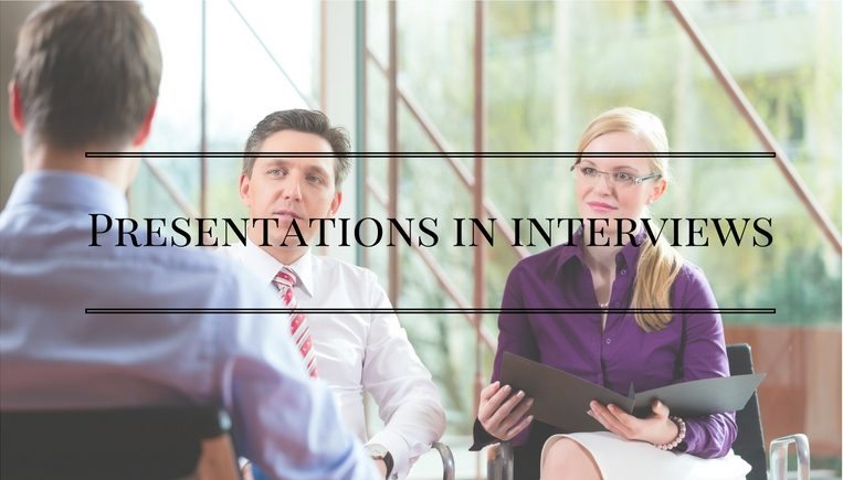 presentations in interviews