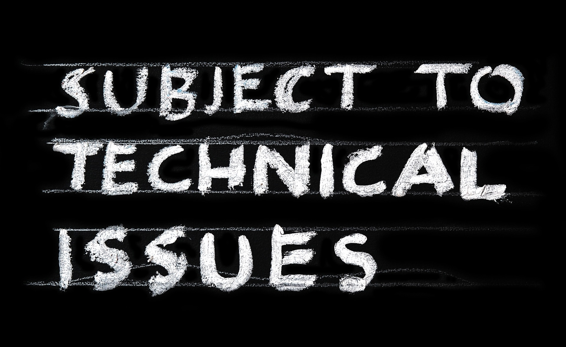 subject to technical issues message for presentation fails