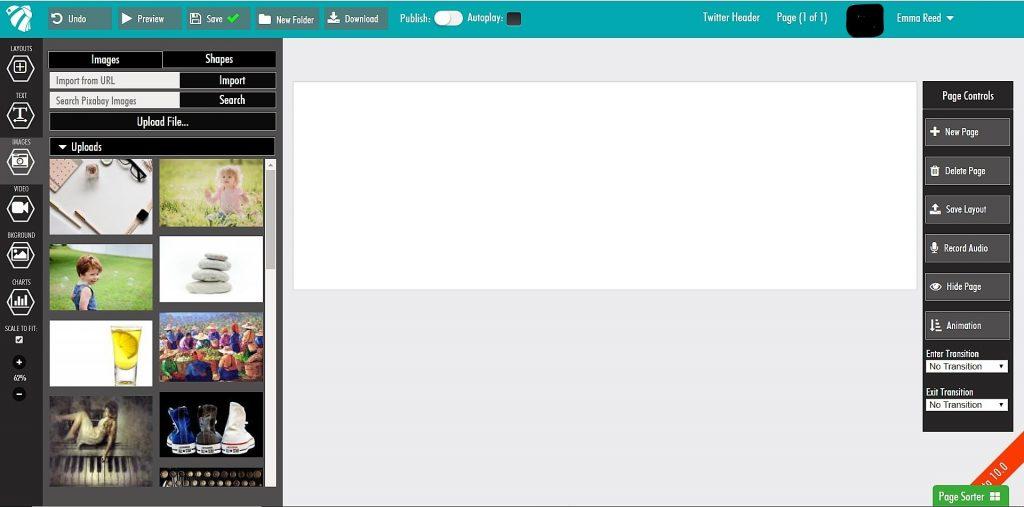 Presbee adding images