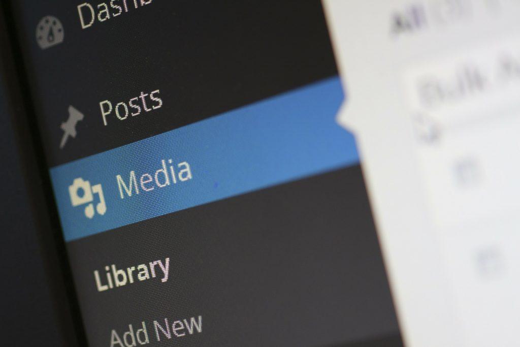 add media button on a blog