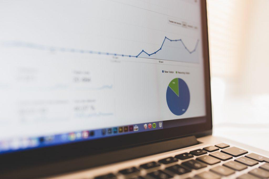 computer with google analytics