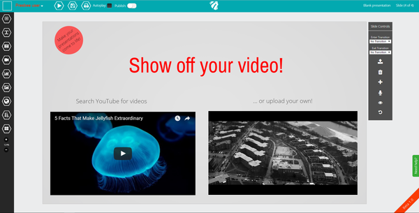 show off your video in presentations