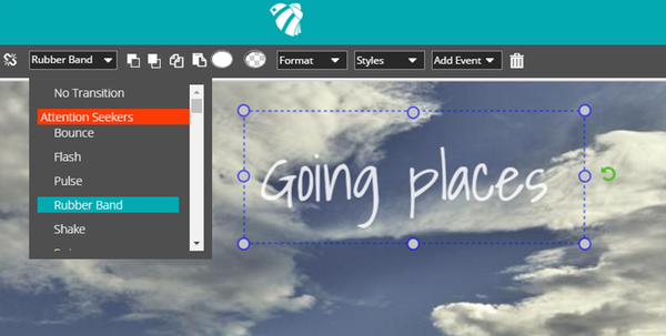 apply a transition to your image